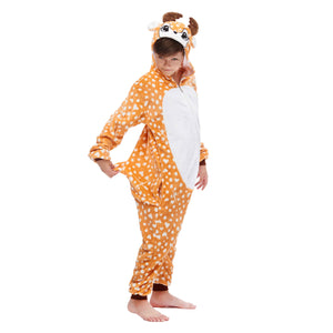 reindeer footless hoody pajamas for boys