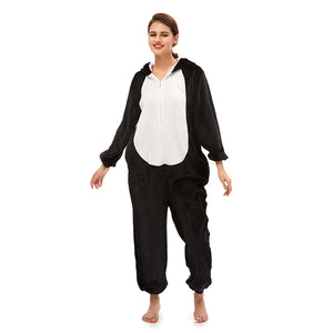 Women Black Huskie Christmas Onesie