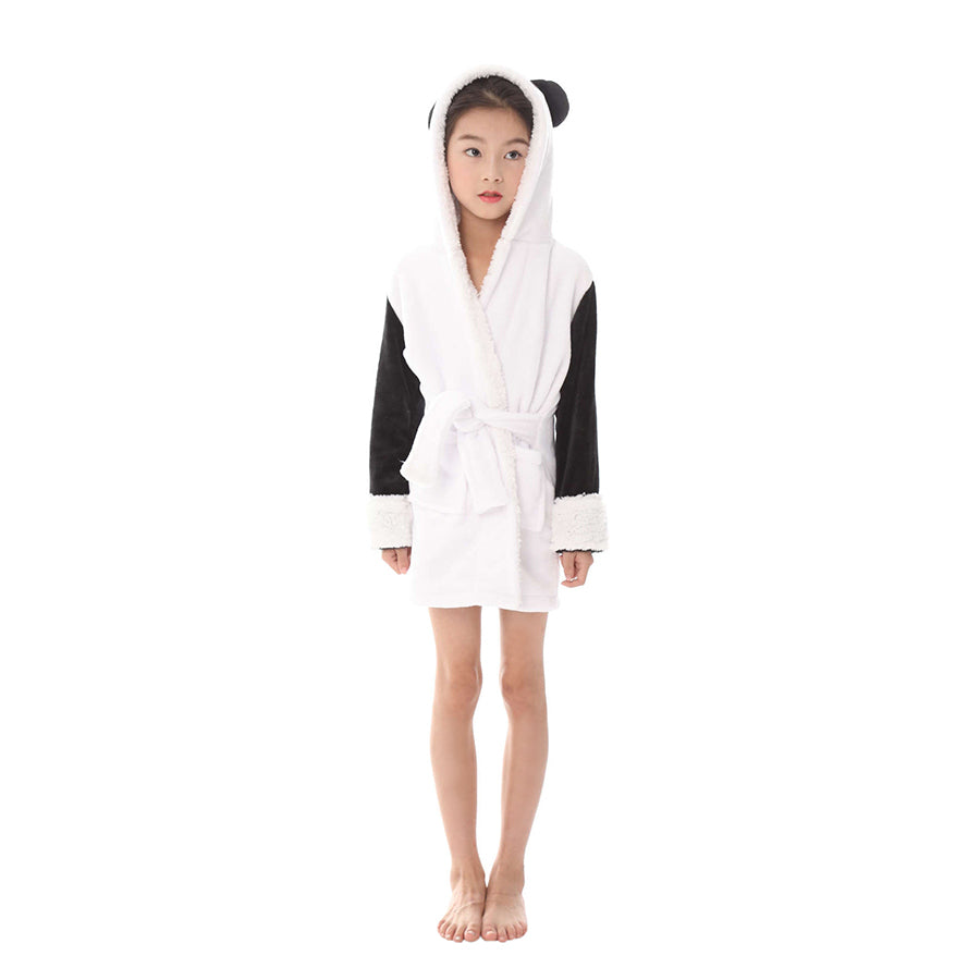 panda bath robe for girls