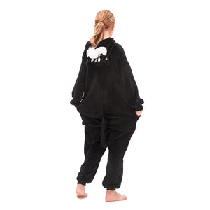 black tail  and huskie hood onesies for girls