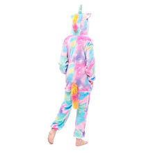 Load image into Gallery viewer, pegasus colorful tail onesie for girls