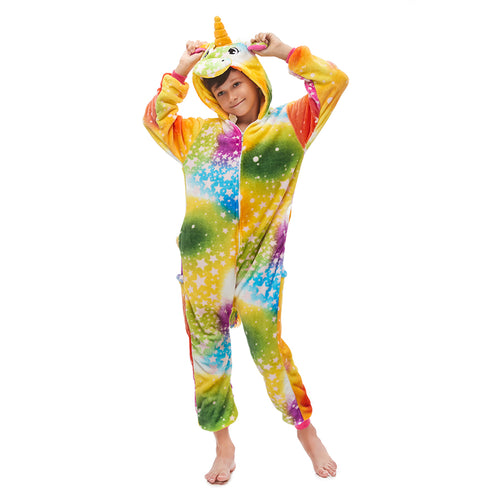 colorful unicorn boys pajama
