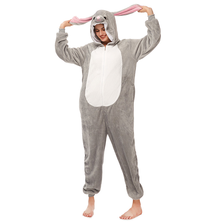 Gray MashiMaro Onesie Pajama For Female