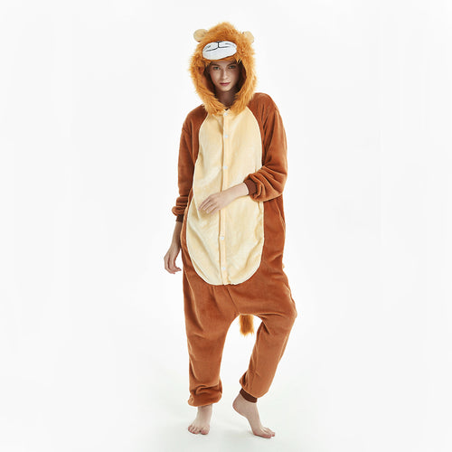 brown lion pajama for women