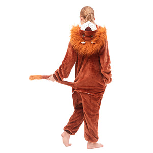 tail lion brown soft fleece onesies