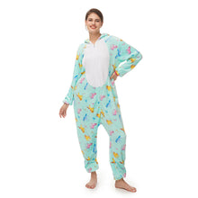 Load image into Gallery viewer, green print Pegasus women pajamas