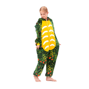 girls Triceratops hooded nightgown
