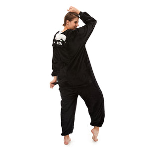 Plush Huskie Onesie Pajamas For Girls