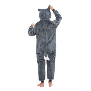 lovely and warm gray huskie pajamas