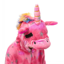 Load image into Gallery viewer, unicorn onesie with 3D hood