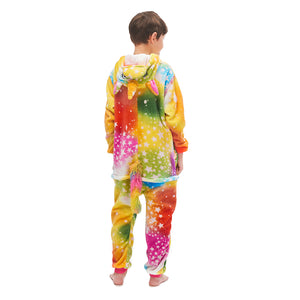 one piece boys colorful hooded kigurumi onesies