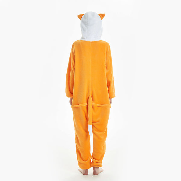hooded women orange onesies