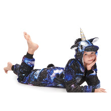 Load image into Gallery viewer, navy star footless girls onesies pajamas