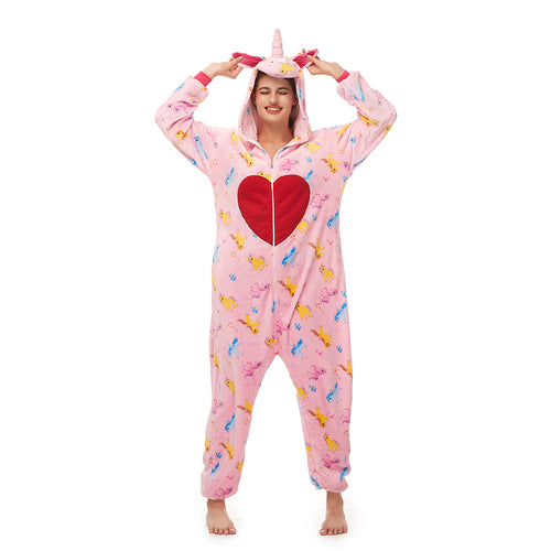 pegasus soft flannel women pajama with a heart