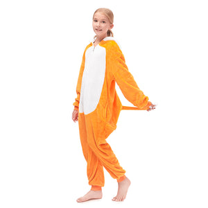 loose girls orange sleepwear