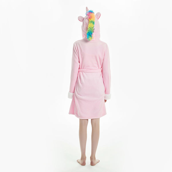 pink unicorn women robes
