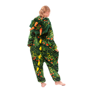 christmas fleece green girls pajamas