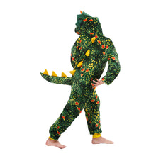 Load image into Gallery viewer, boys funny Green Toothless Triceratops sleepwear