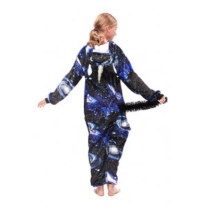 dark navy star pegasus onesies for girls