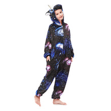 Load image into Gallery viewer, navy girls star pegasus pajamas