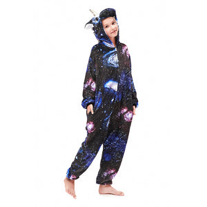 navy girls star pegasus pajamas