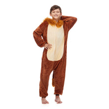 Load image into Gallery viewer, plush hooded pajamas for boys