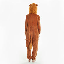 Load image into Gallery viewer, super soft fleece tail onesies with lion hood