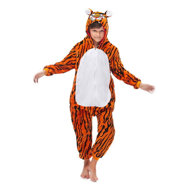 orange tiger onesies boys