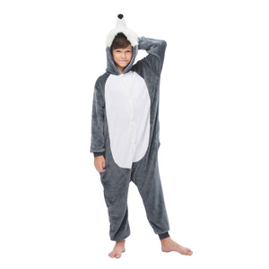 gray long hair onesies for boys