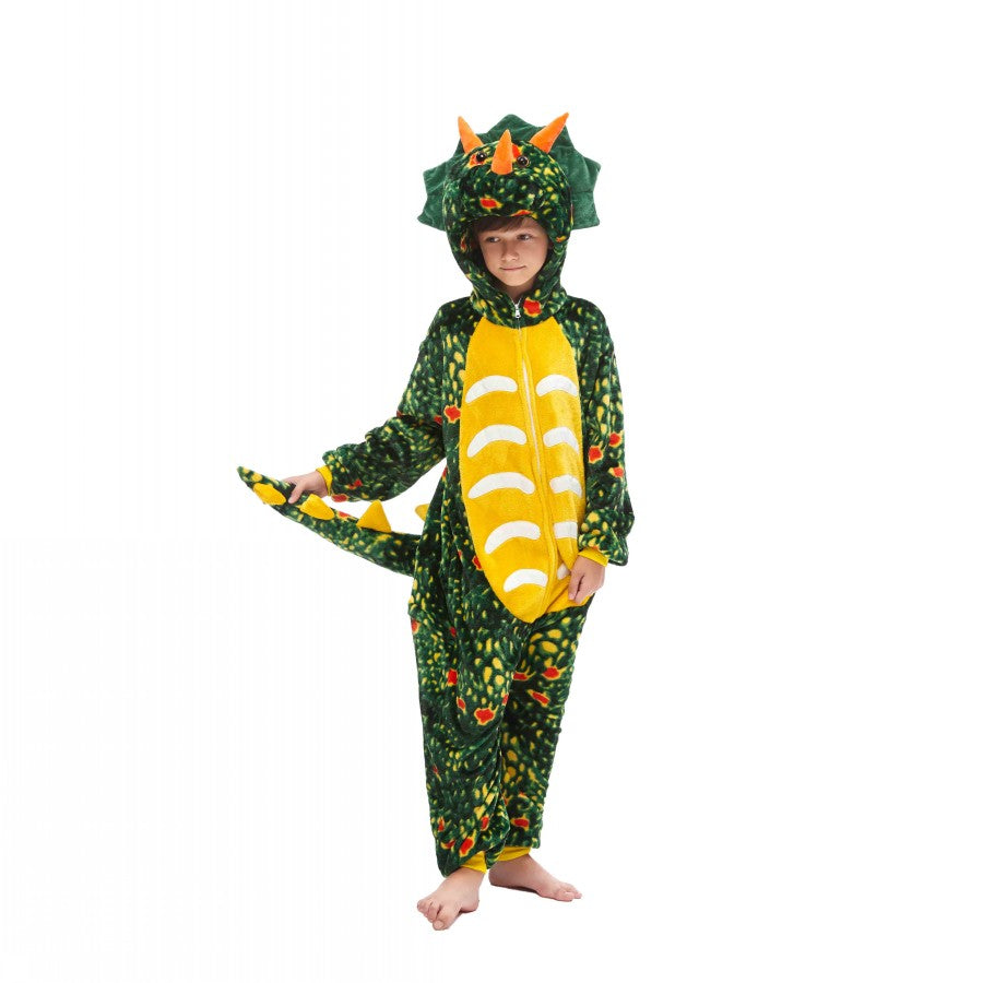 Toothless Triceratops Cosplay Fleece Pajamas