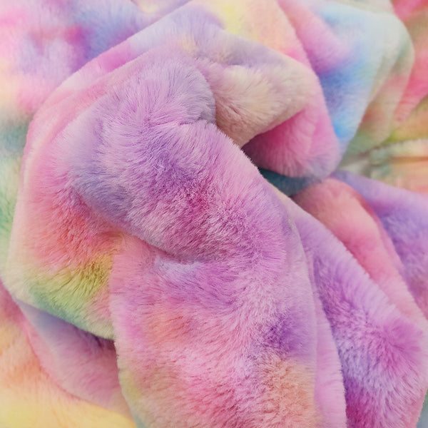 Tie-dyed fleece