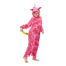 Load image into Gallery viewer, loose-fitting hooded animal unicorn pajamas