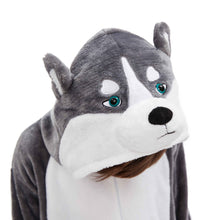 Load image into Gallery viewer, gray huskie funny boys pajamas