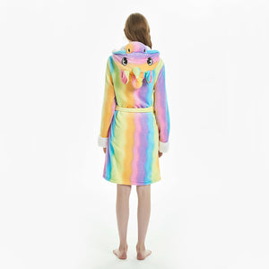 winter robes with unicorn hood