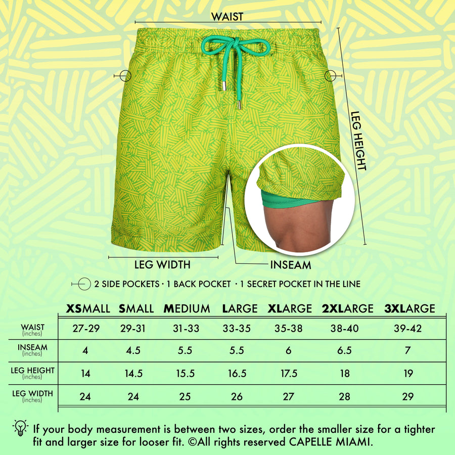 Collins - Lemon Lime Swim Trunks