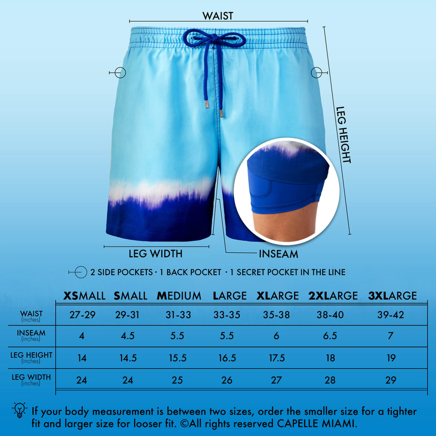 Collins - Blue Mist Swim Trunks