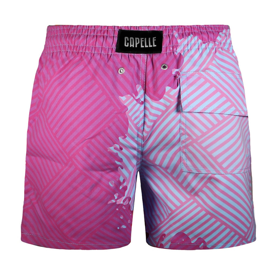 Switch V 2.0 Color Changing Swim Trunks | Geometric Blue-Purple