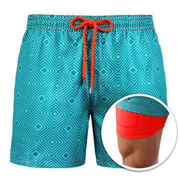 Collins - Coral Illusion Swim Trunks