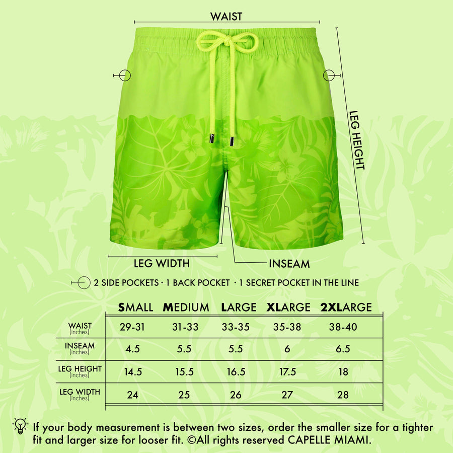 Switch Magic Water-Reactive Swim Trunks | Green Palms