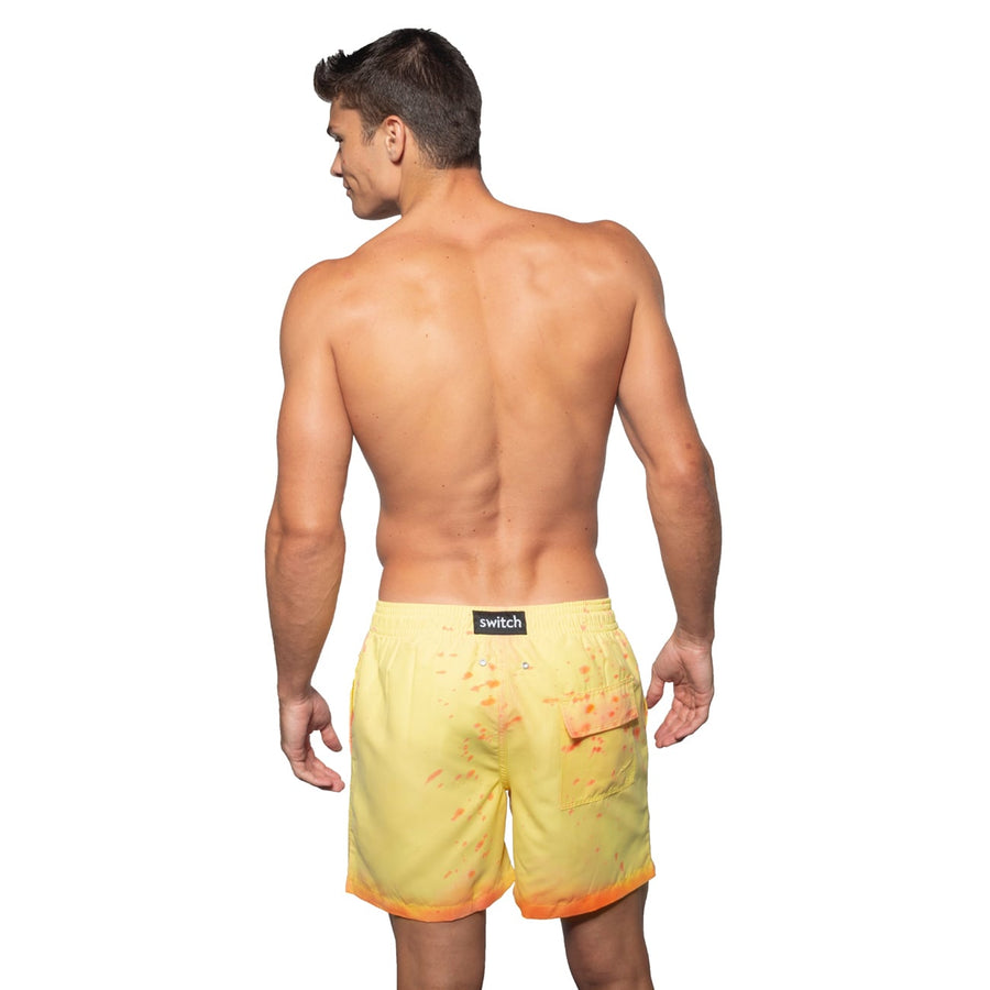 Switch V 2.0 Color Changing Swim Trunks | Yellow-Orange