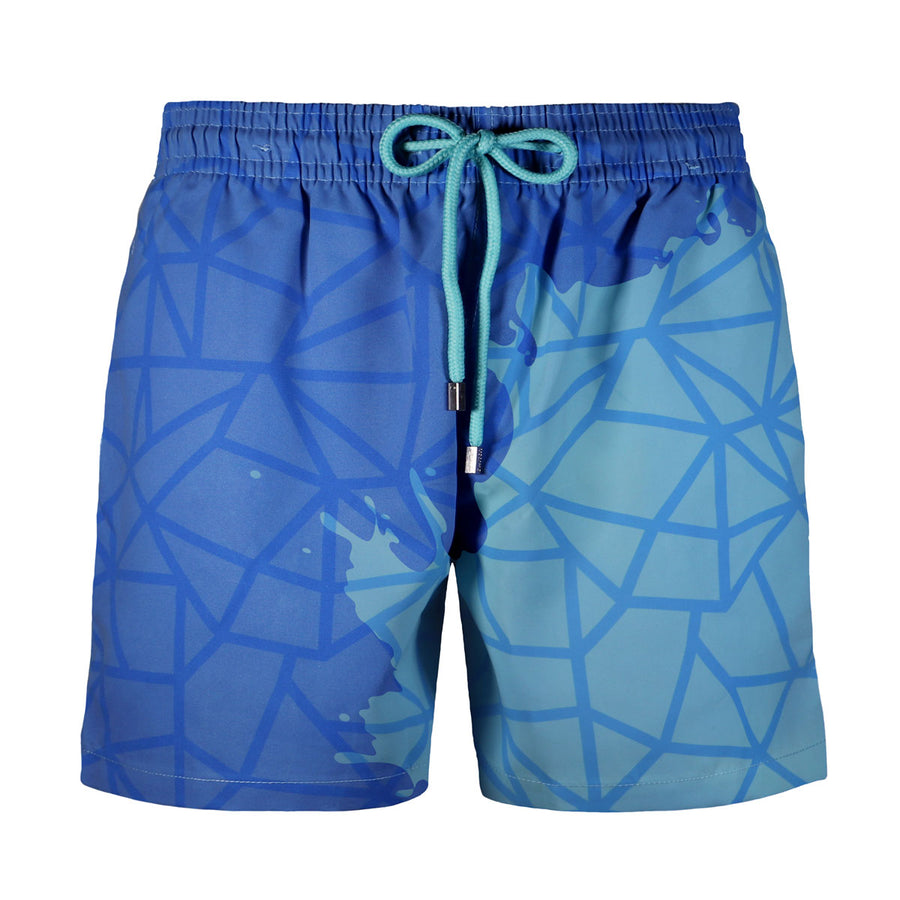Switch V 2.0 Color Changing Swim Trunks | Geometric Blue-Green