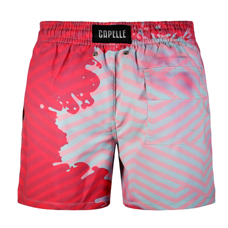 Switch V 2.0 Color Changing Swim Trunks | Geometric Blue-Pink