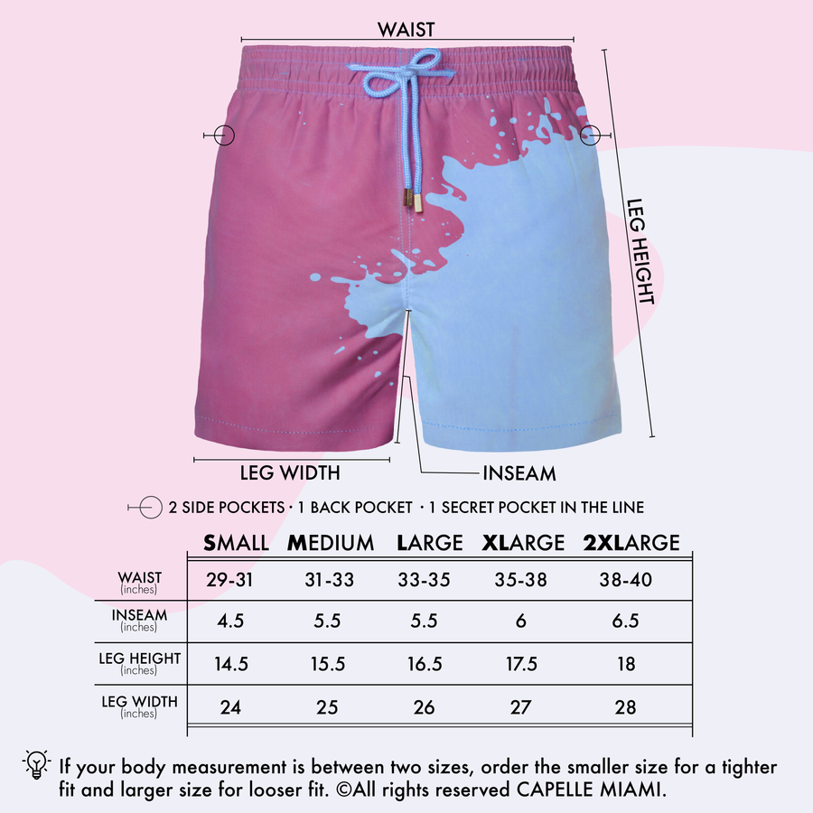 Switch V 2.0 Color Changing Swim Trunks | Blue-Purple