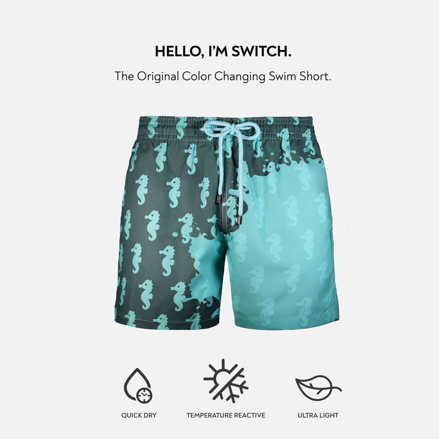 Switch V 2.0 Color Changing Swim Trunks | Capelle Seahorse