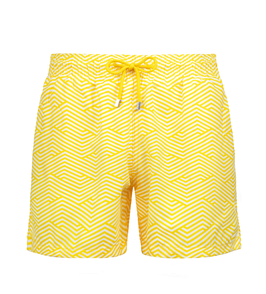 Geometric Yellow Redesigned Soft Net - Ocean