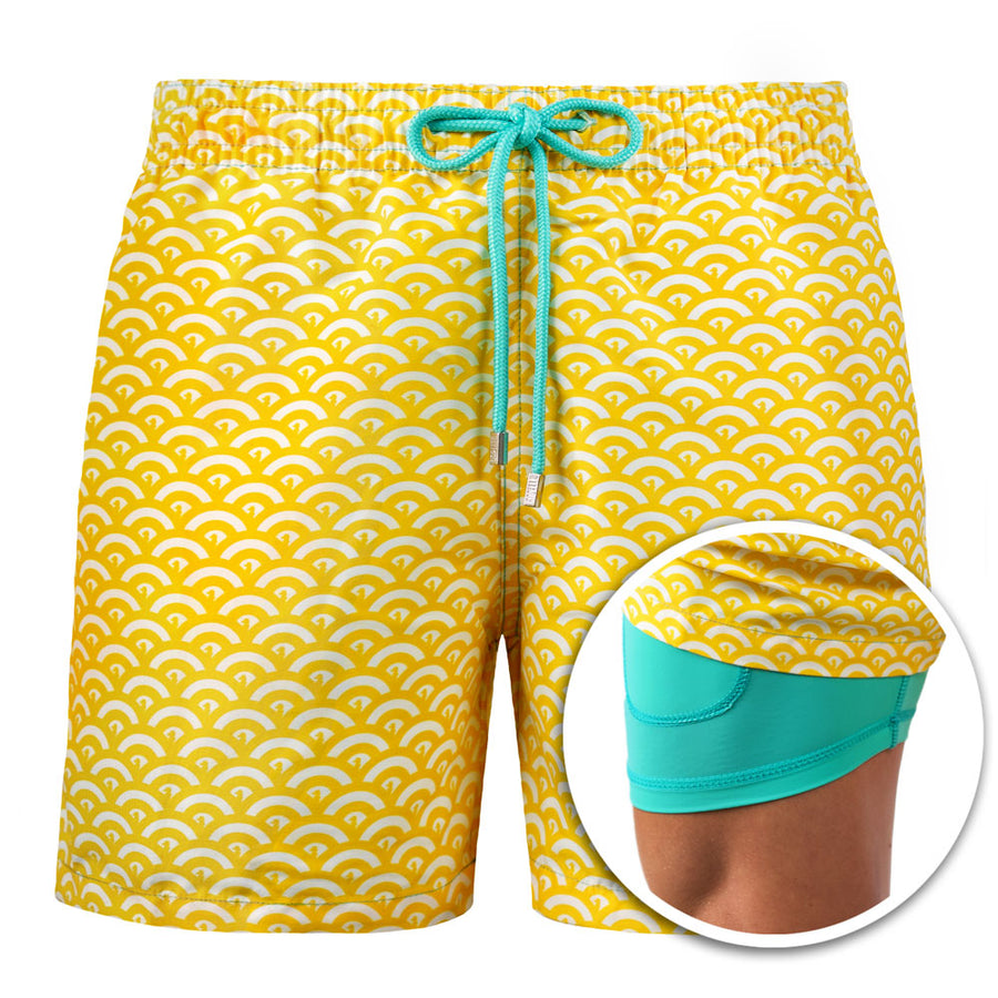 Collins - Yellow Paradise Swim Trunks