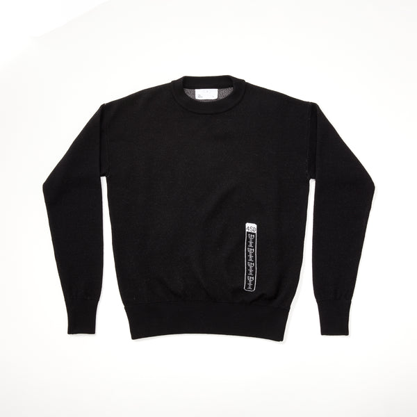 Size Tag Merino Crewneck Sweater