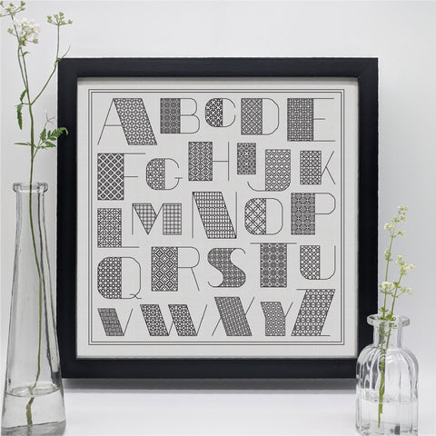 Blackwork alphabet
