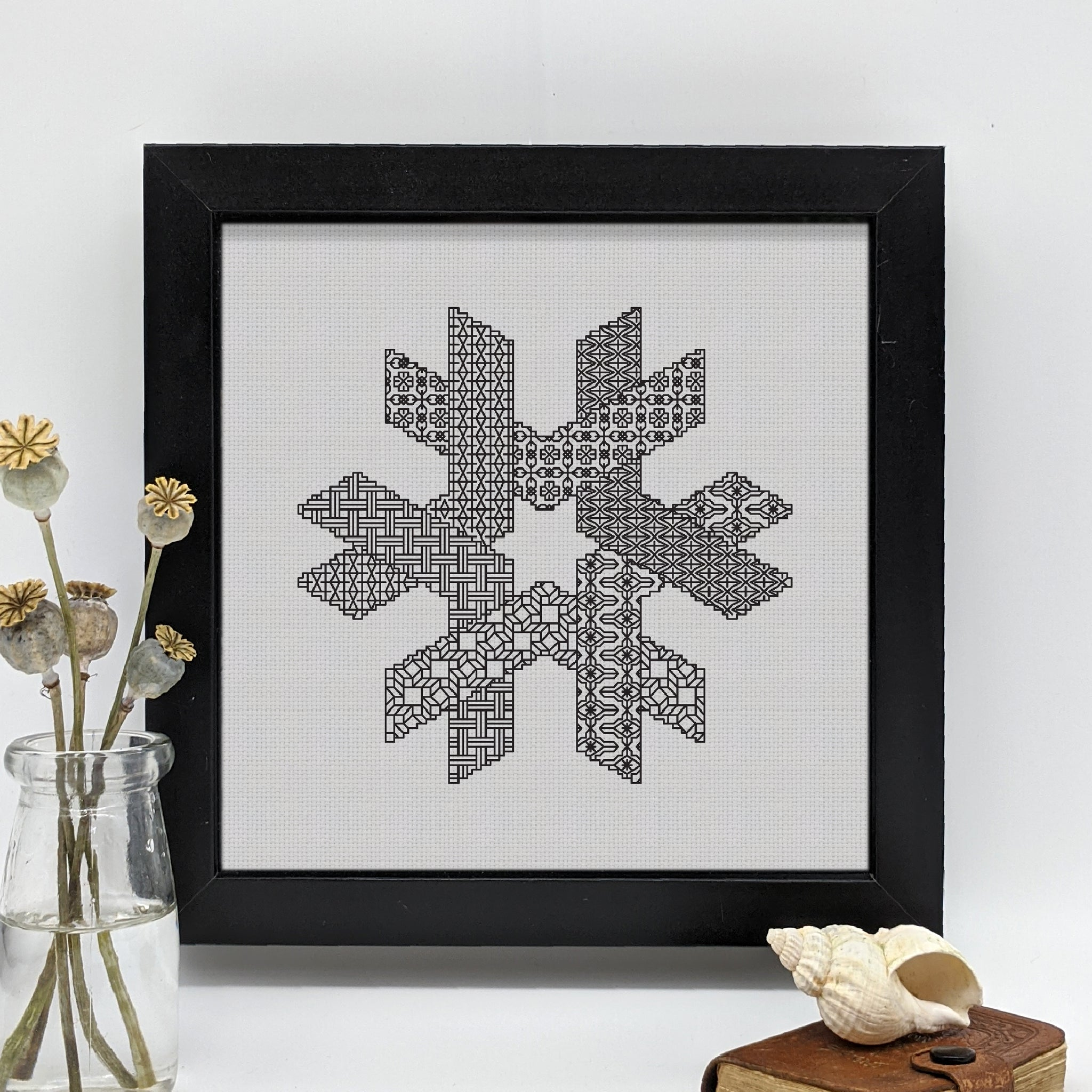 Blackwork geometric star