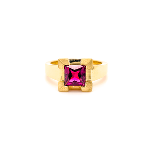 Open image in slideshow, Ring ' Castle Rhodolite Garnet'